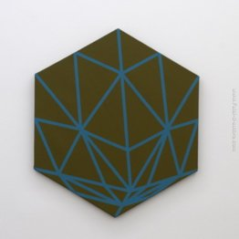 Hexagon con linee turchesi