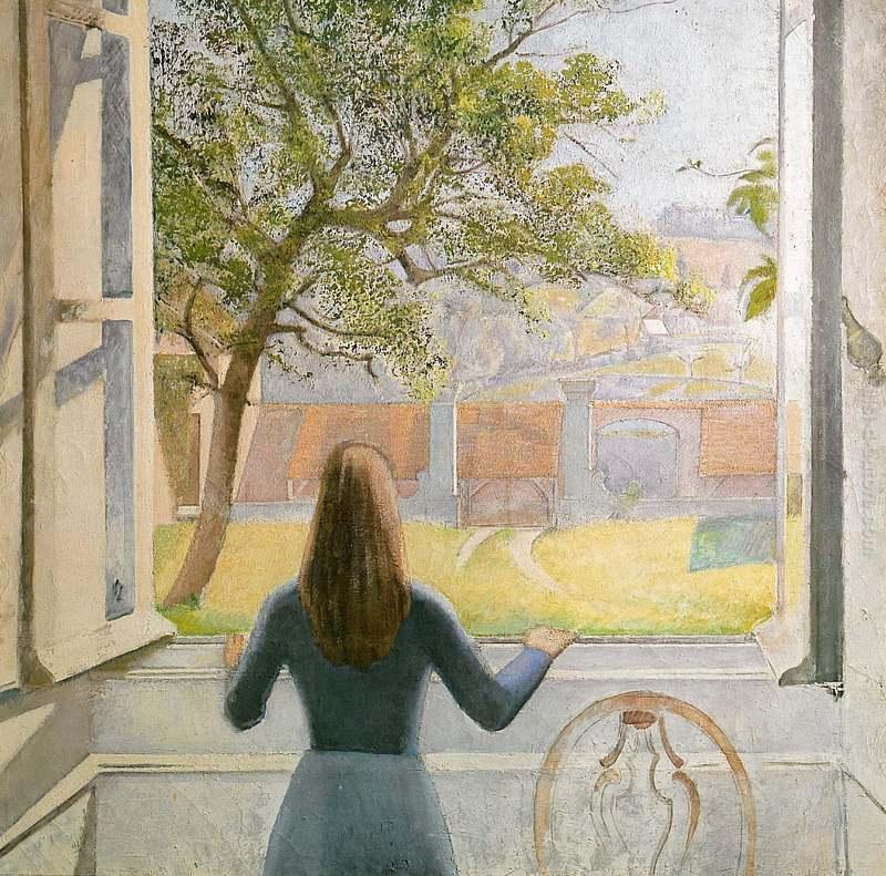 Ragazza alla finestra di balthus in vendita - Ragazza alla finestra ...