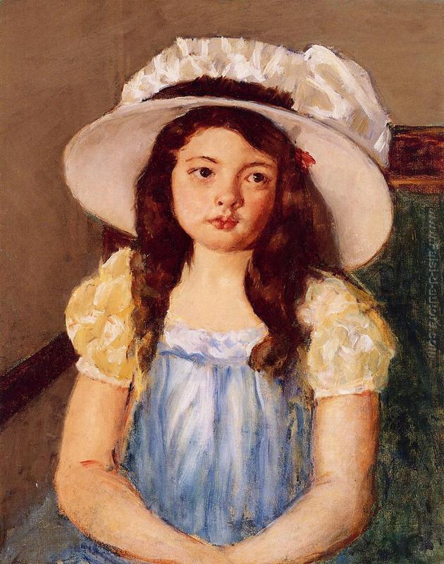 Francoise che porta un grande cappello bianco di Mary ...