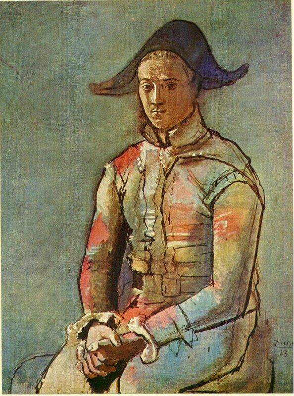 Arlecchino Seduto Jacinto Salvado Di Pablo Picasso In Vendita