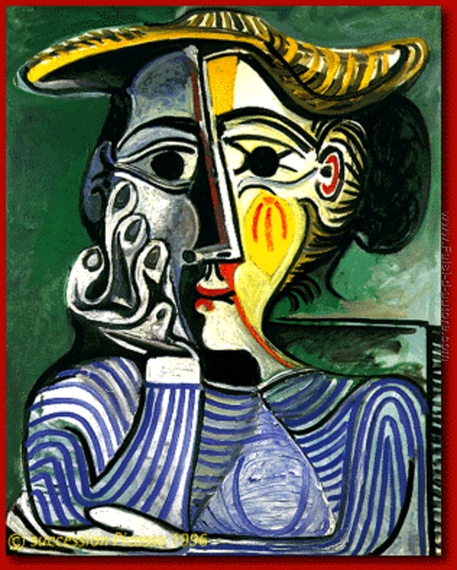 Donna con il cappello giallo (Jacqueline) di Pablo Picasso ...