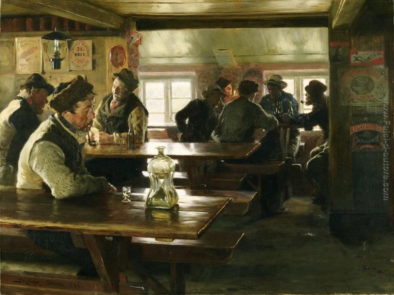 Interno di una taverna di Peder Severin Kroyer in vendita